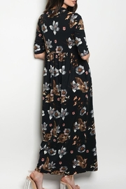 annabelle Floral Sleeve Maxi - Front full body