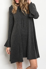 annabelle Grey Sweater Dress - Front cropped