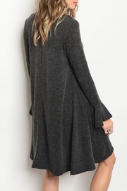 annabelle Grey Sweater Dress - Front full body