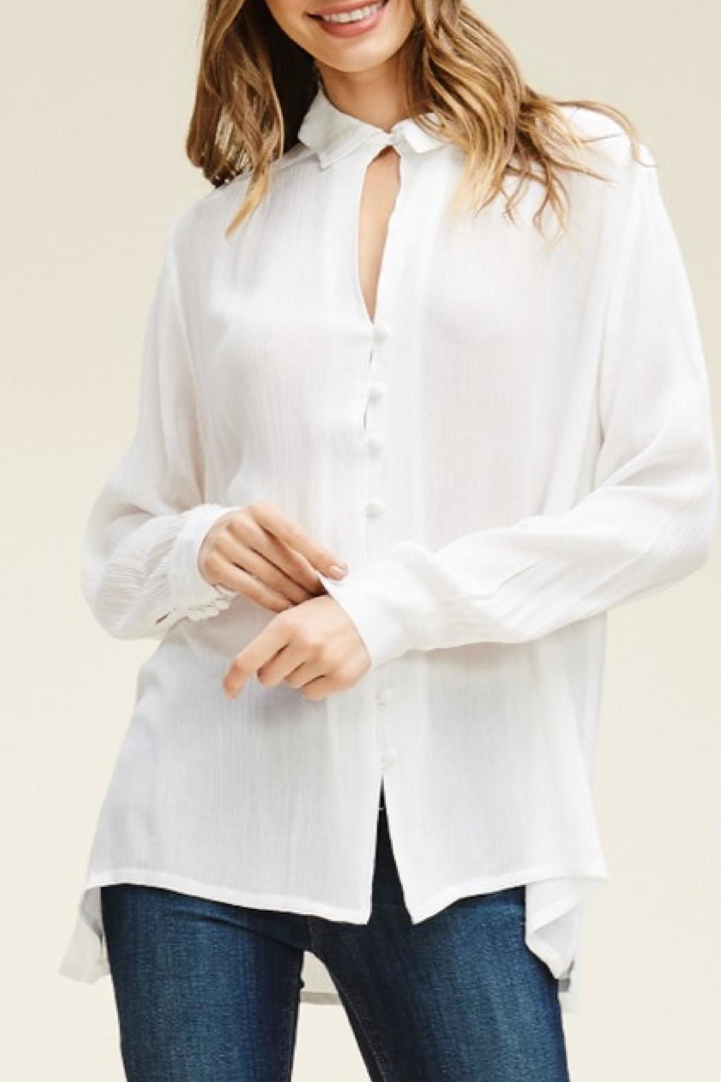 annabelle Keyhole Button-Down Blouse from Orange County by