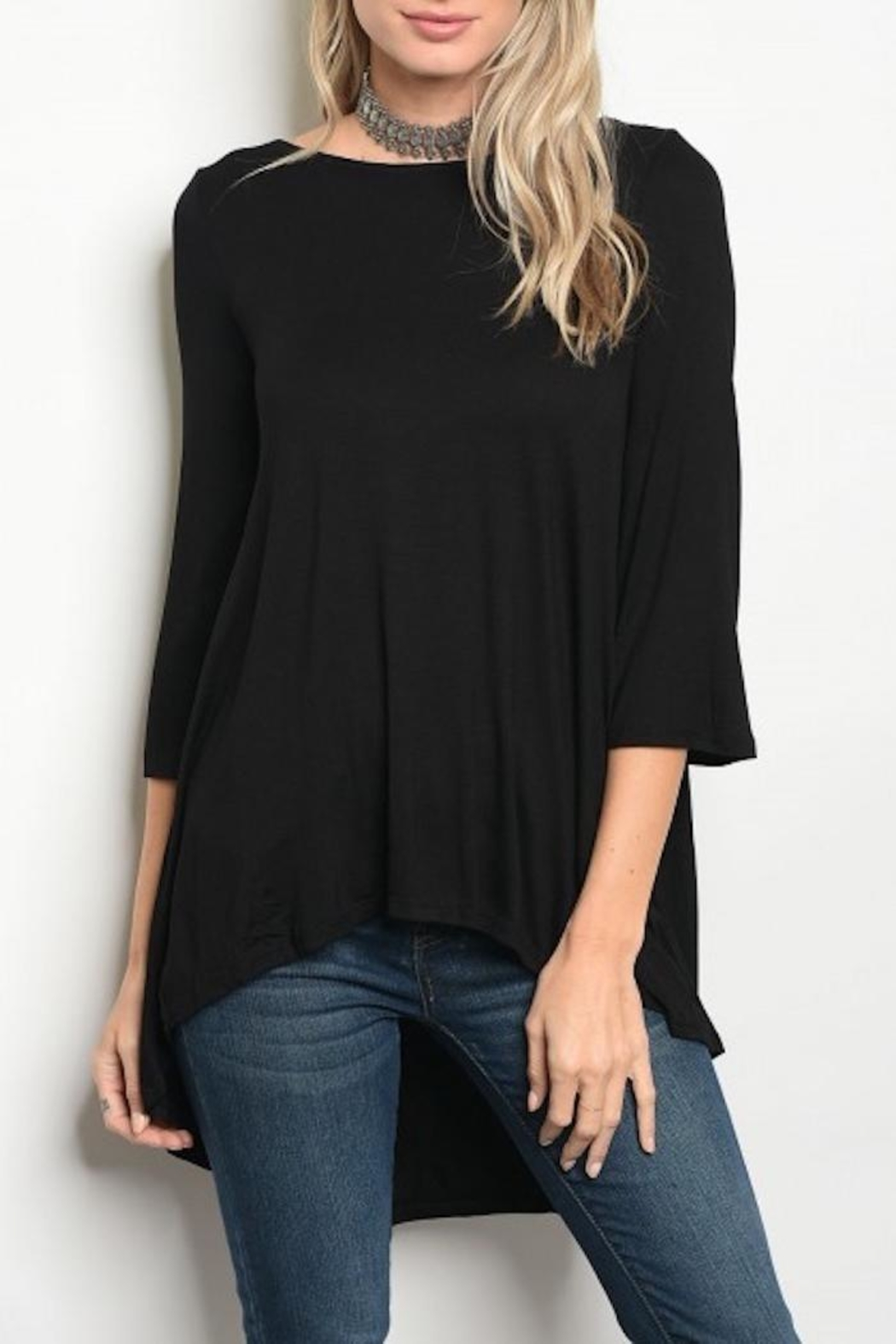 annabelle Keyhole Flowy Top - Main Image