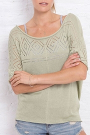 Wooden Ships Annabelle Knit Top - Product Mini Image