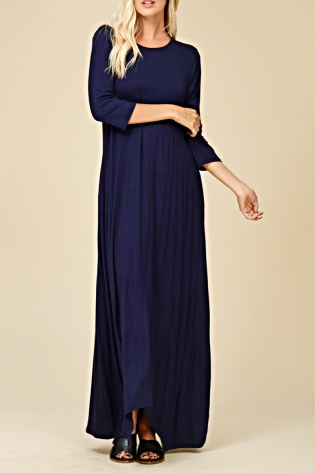 12b624d12ed annabelle Navy Maxi Dress from Alabama by Kitty Couture — Shoptiques