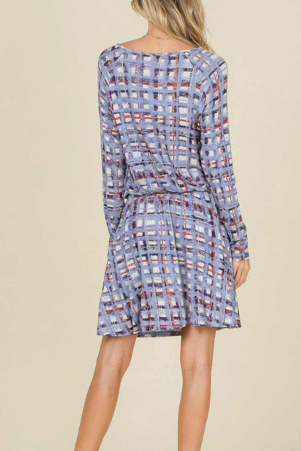 annabelle Plaid Tie Dress - Front Full Image