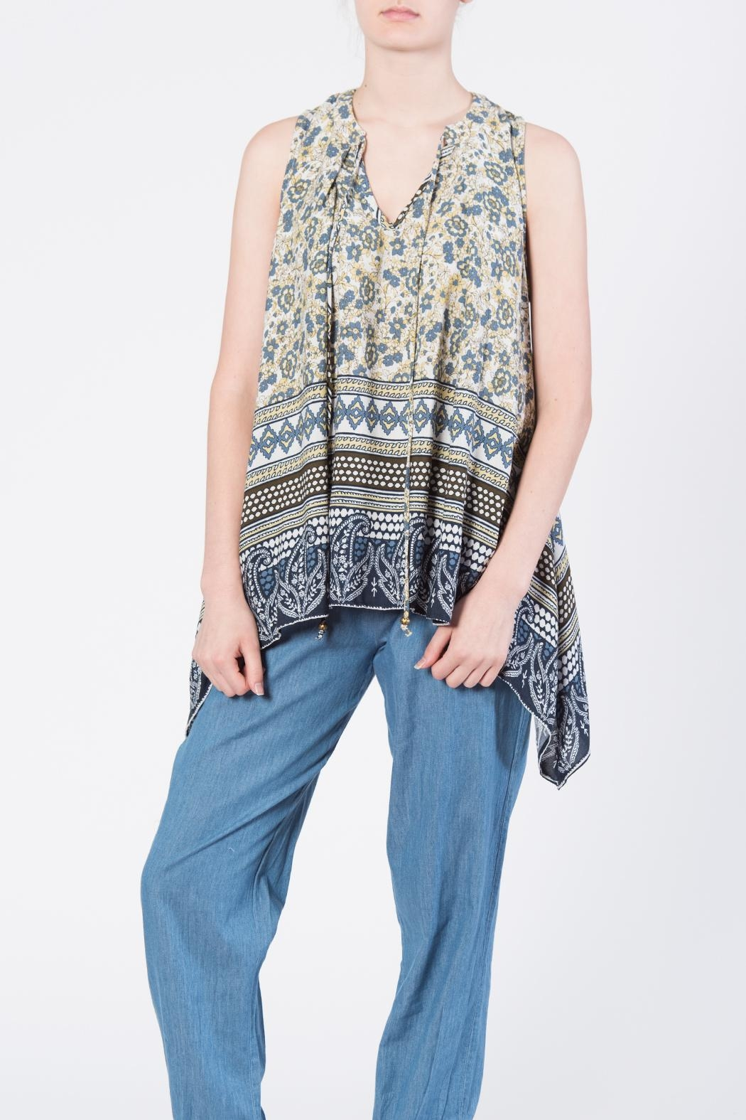 annabelle Print Tie Top - Side Cropped Image