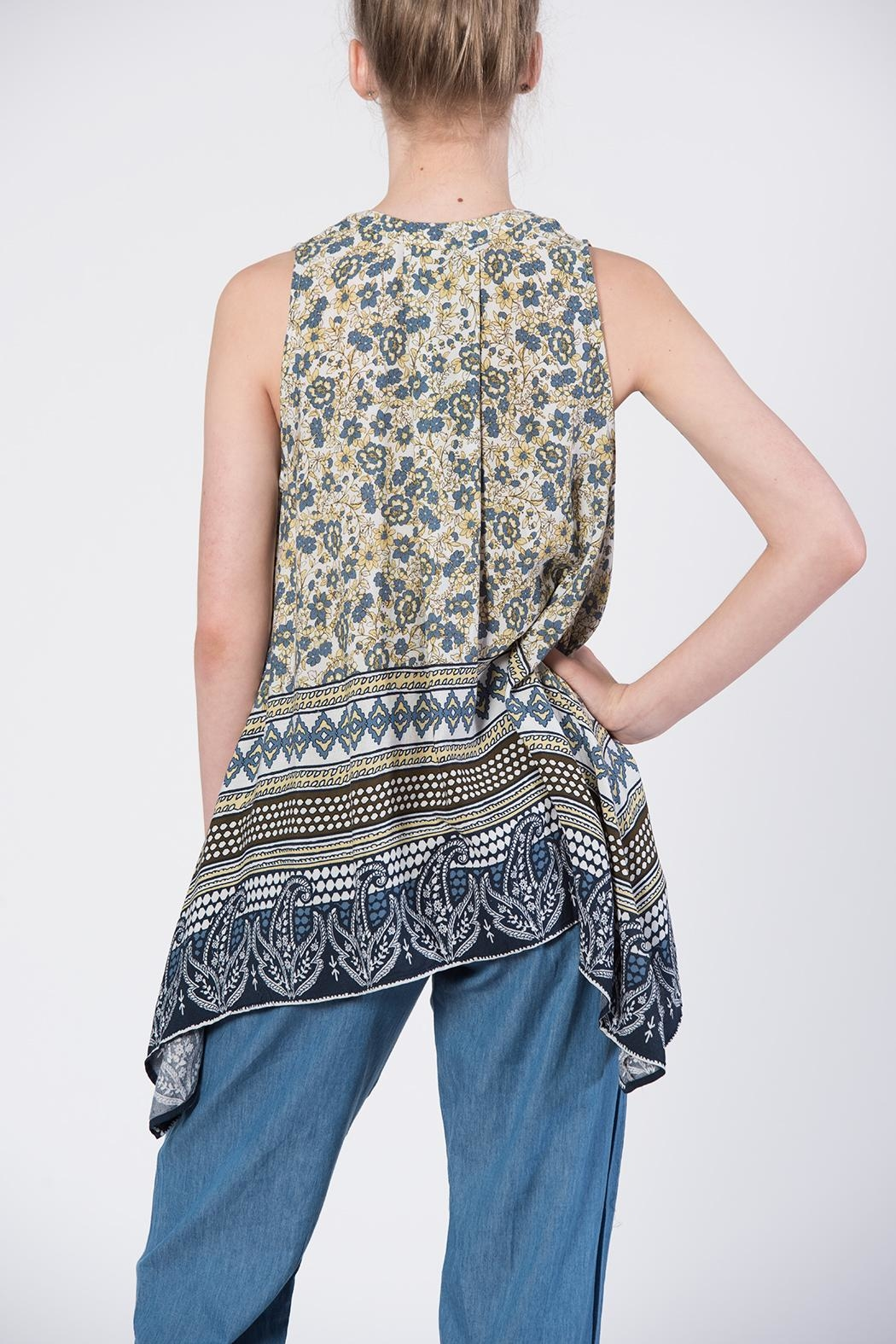 annabelle Print Tie Top - Front Full Image