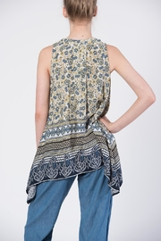 annabelle Print Tie Top - Front full body