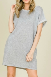 annabelle Terry Sweatshirt Dress - Front cropped