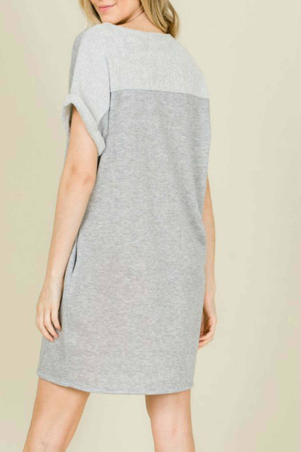 annabelle Terry Sweatshirt Dress - Side Cropped Image