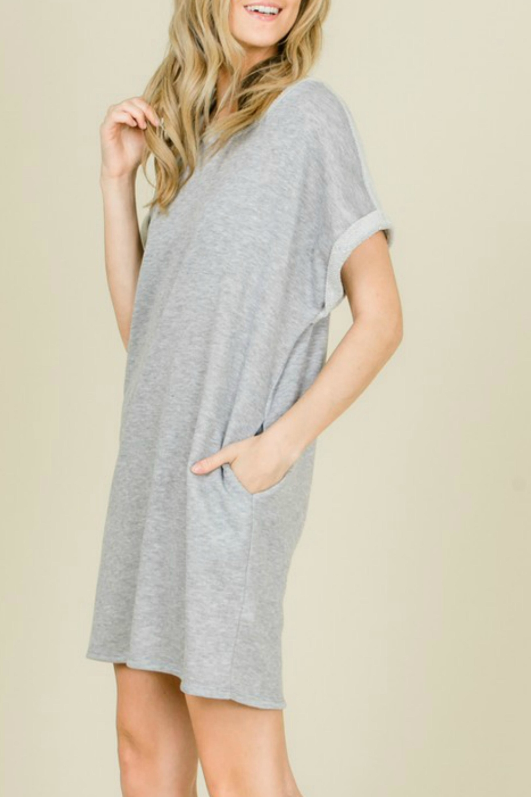 annabelle Terry Sweatshirt Dress - Front Full Image