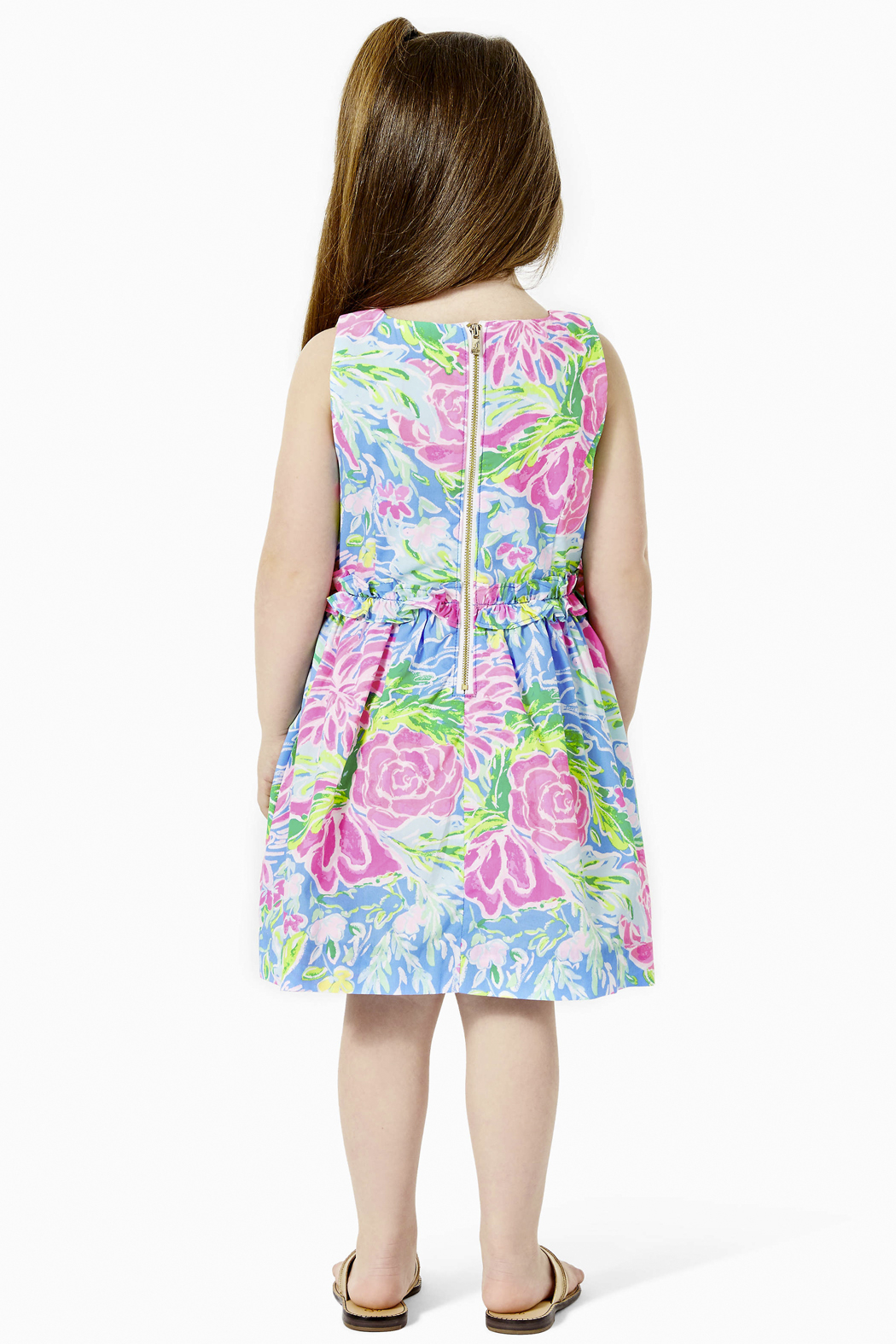 Lilly Pulitzer  Annalee Dress Blue Bunny Business - Front Full Image