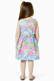 Lilly Pulitzer  Annalee Dress Blue Bunny Business - Front full body