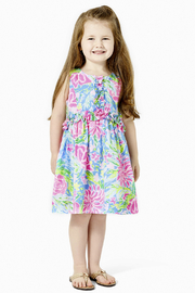 Lilly Pulitzer  Annalee Dress Blue Bunny Business - Front cropped