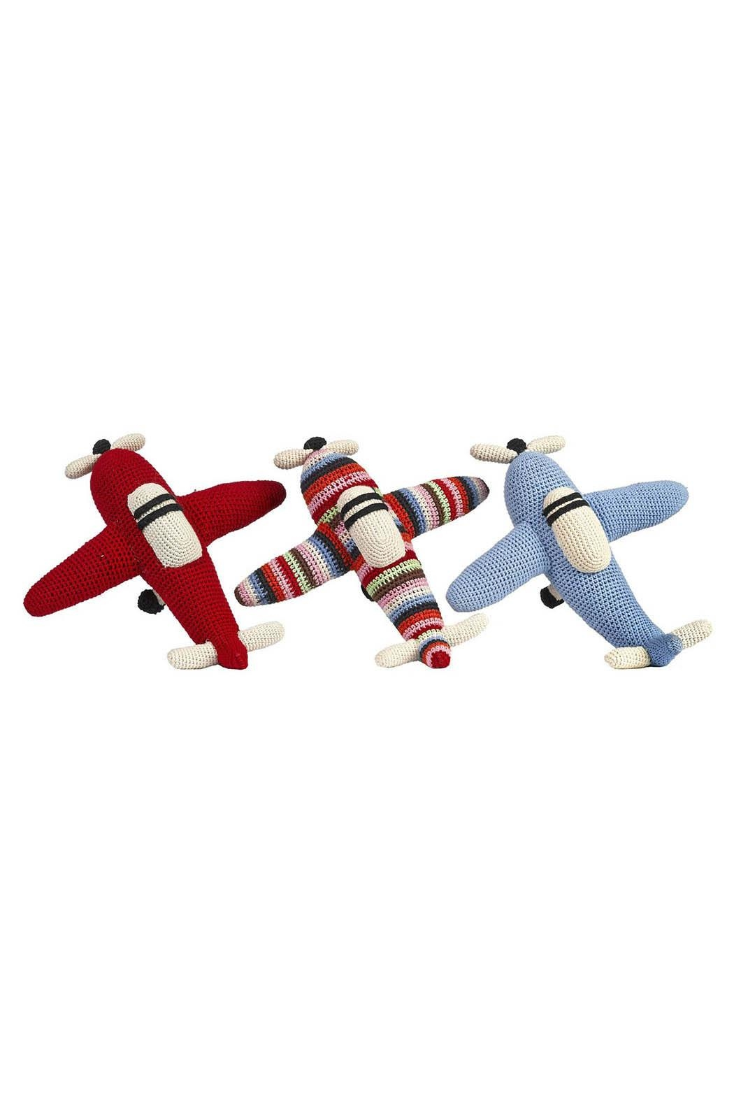 anne-claire petit Multi-Stripe Rattle Airplane - Side Cropped Image