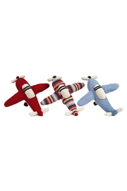anne-claire petit Multi-Stripe Rattle Airplane - Side cropped