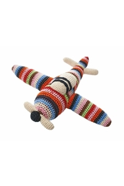 anne-claire petit Multi-Stripe Rattle Airplane - Front cropped