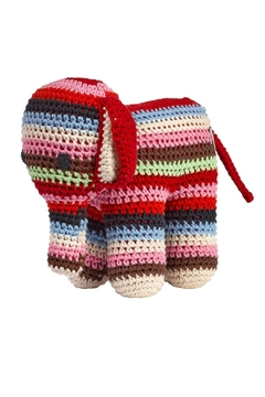 Shoptiques Product: Multi Stripes Crochet Elephant