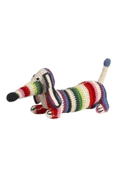 anne-claire petit Multi Stripes Small Dachshund - Front cropped