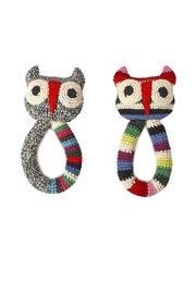 anne-claire petit Owl Ring Rattle Toy - Front full body