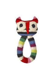 anne-claire petit Owl Ring Rattle Toy - Front cropped
