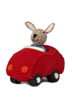 anne-claire petit Red Animal Car Bunny - Product List Image