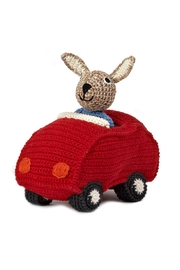 anne-claire petit Red Animal Car Bunny - Front cropped