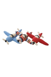 anne-claire petit Sky-Blue Rattle Airplane - Front full body