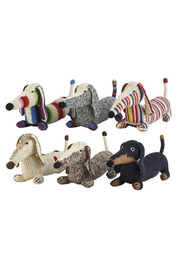 anne-claire petit Stripy Grey Dachshund - Front full body