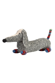 anne-claire petit Stripy Grey Dachshund - Front cropped