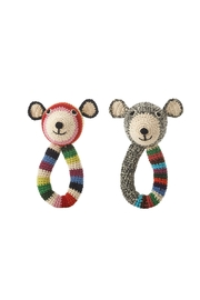 anne-claire petit Teddy-Ring Rattle Toy - Front full body