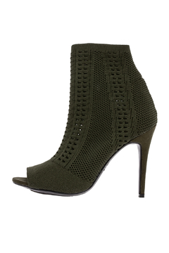 Shoptiques Product: Olive Knit Sock Heel