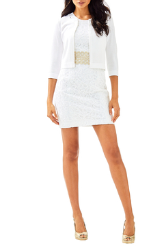 Lilly Pulitzer Anne Short Cardigan with 3/4 Sleeve and Hook Closure 29471 - Alternate List Image