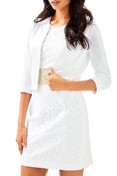 Lilly Pulitzer Anne Short Cardigan with 3/4 Sleeve and Hook Closure 29471 - Product List Image