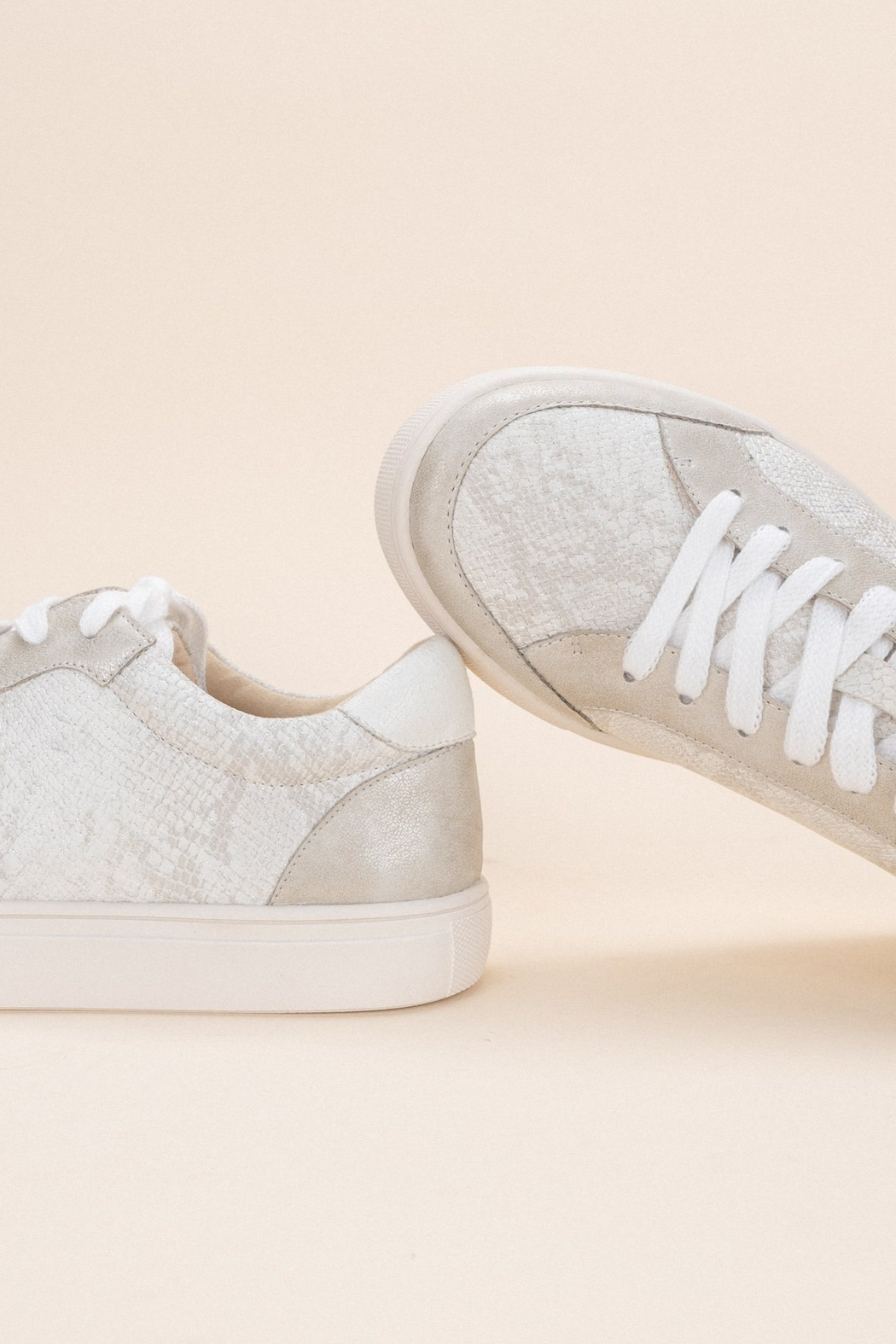 miracle miles  Anne Snakeskin Sneaker - Side Cropped Image