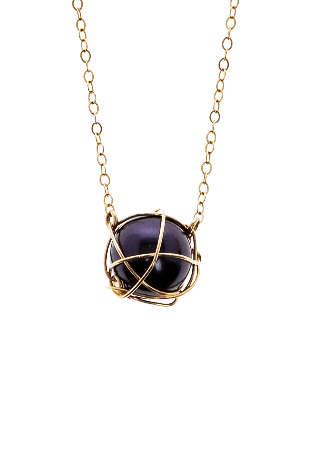 Anne Woodman Midnight Pearl Necklace - Front Full Image