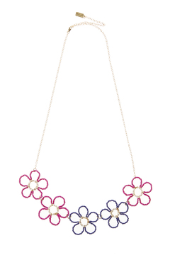 Anne Woodman Pink Flower Necklace - Product List Image
