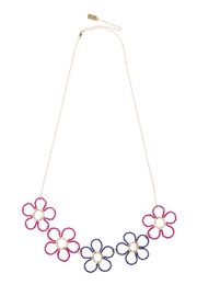 Anne Woodman Pink Flower Necklace - Product Mini Image