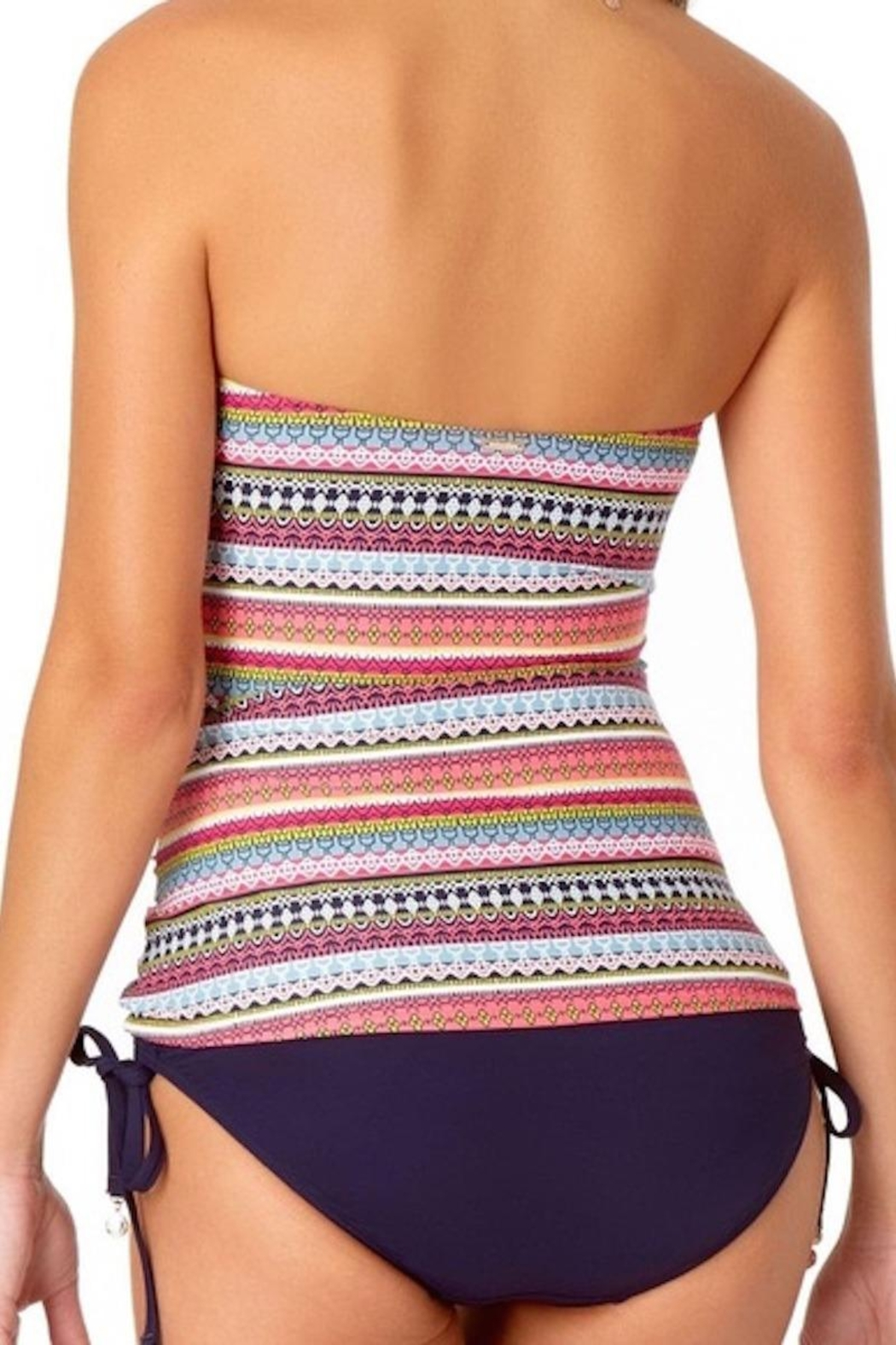 Anne Cole Ac Bandeau Tankini Top - Front Full Image