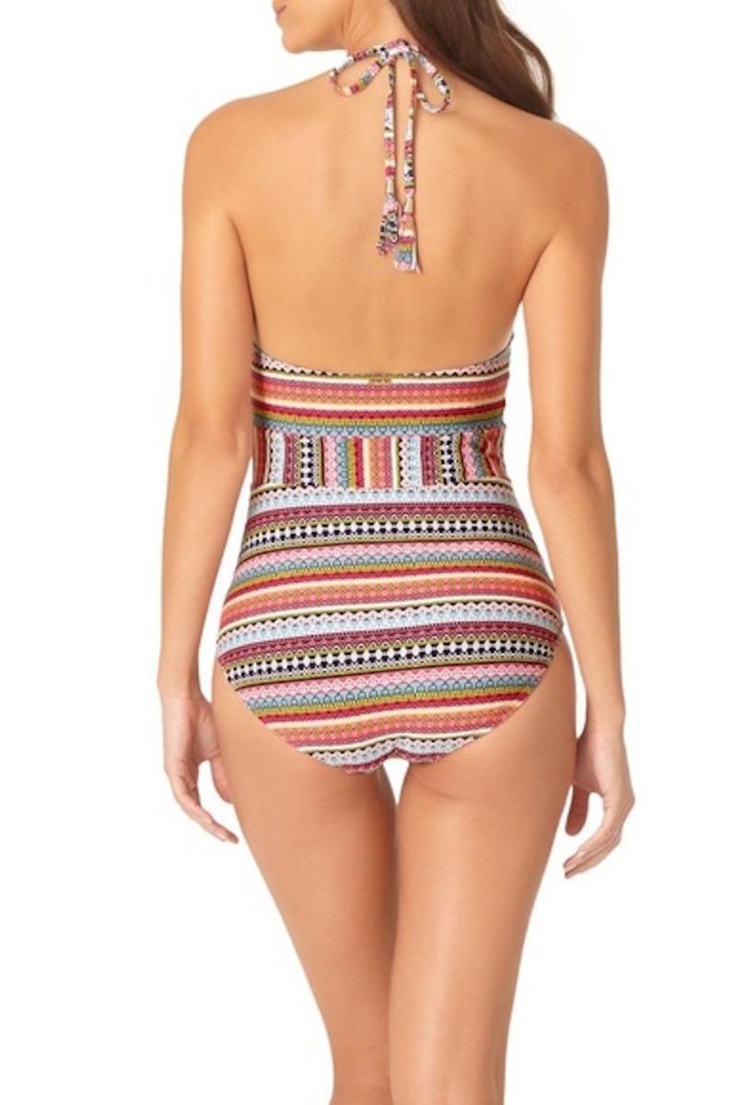 Anne Cole Ac High Neck One-Piece - Back Cropped Image