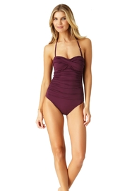 Anne Cole Twist Front Bandeau - Front full body