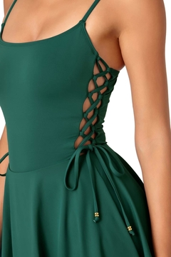 Anne Cole Lace Up Swimdress - Product List Image