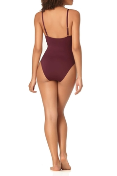 Anne Cole Vintage Aubergine One-Piece - Alternate List Image