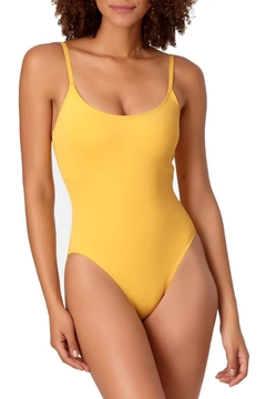 Anne Cole Vintage Yellow One-Piece - Product List Image