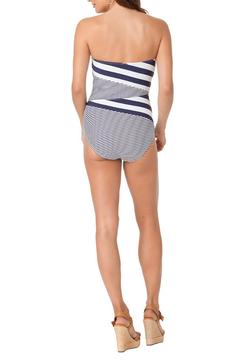 Anne Cole Signature Asymmetrical Stripe Swimsuit - Alternate List Image