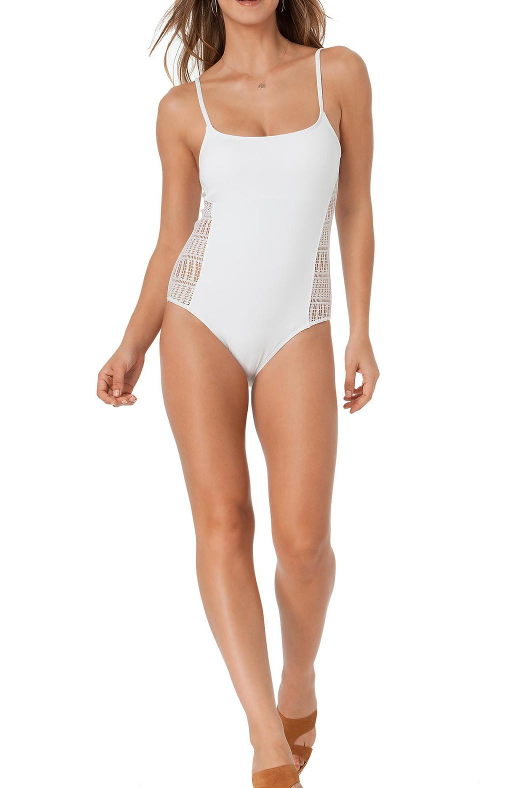 Anne Cole Signature White One Piece - Front Cropped Image