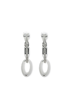 Anne Klein Pave' Hoop Clip-On - Product List Image
