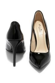anne michelle Black Pointed Pumps - Front full body