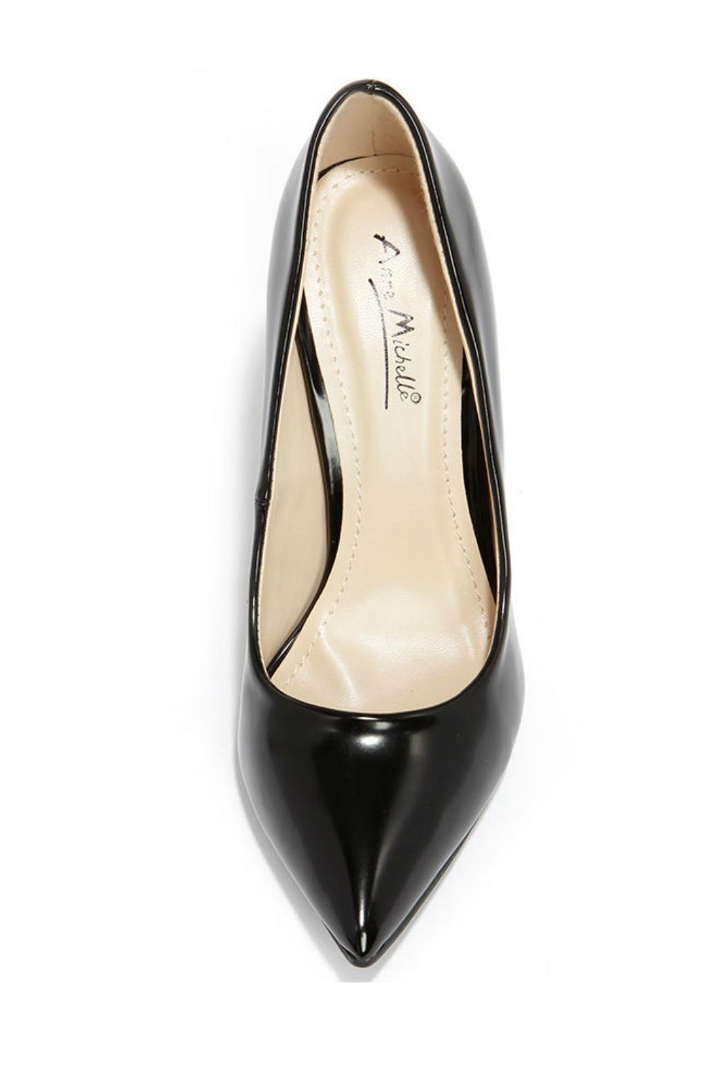 anne michelle Black Pointed Pumps - Side Cropped Image