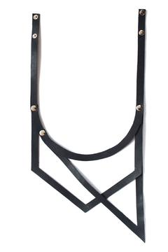 Anne Overbeek Black Leather Necklace - Product List Image