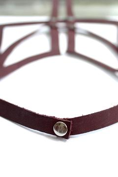 Anne Overbeek Bordeaux Leather Necklace - Alternate List Image